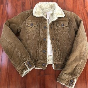 Abercrombie & Fitch Brown Corduroy Jacket